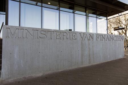 Den Haag, Nederland-januari 19, 2017: Nederlandse ministerie van Financiën in Den Haag