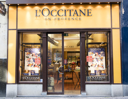 Amsterdam, Netherlands-january 19, 2017: facade of the shop l'occitane en provence in amsterdam Editorial