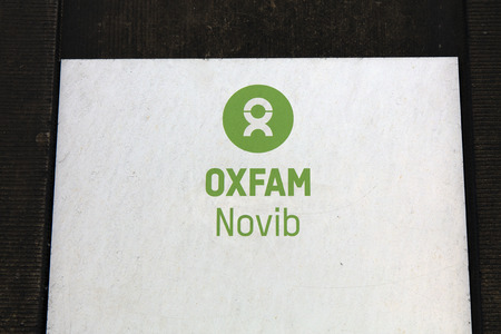Amsterdam, Netherlands-february 2, 2017: letters oxfam novib on a wall in amsterdam