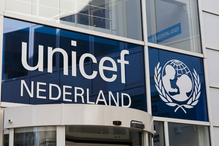 The Hague, Netherlands-februari 15, 2017: Unicef office in the hague in the Netherlands Editoriali