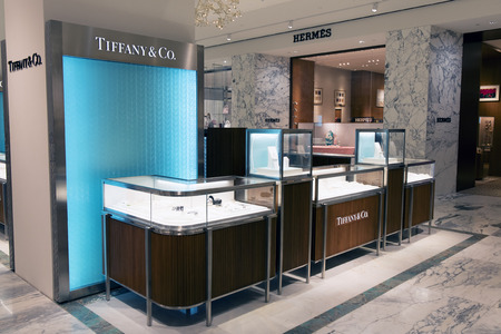 Amsterdam, Netherlands-februari 19, 2017: Tiffany & co store