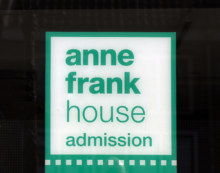 Amsterdam, Netherlands-march 12, 2017: Letters anne frank house admission at the anne frank house in Amsterdam