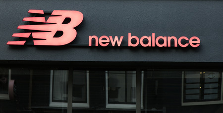 Amsterdam, Netherlands-march 5, 2017: Letters new balance on a store in Amsterdam