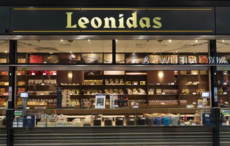 Amsterdam, 15 maart 2017: Leonidas winkel in Amsterdam Redactioneel