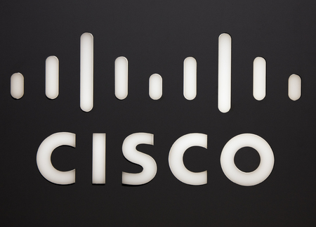 Amsterdam, Netherlands -september 15, 2017: Cisco letters on a wall in Amsterdam Editorial