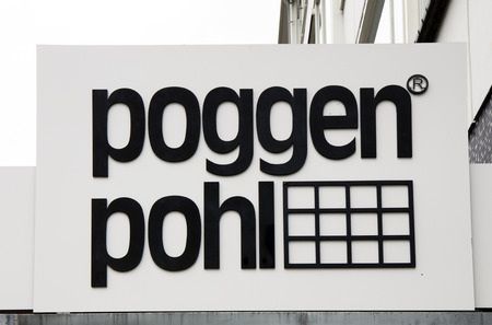 Amsterdam, Netherlands -october 1, 2017: Poggen Pohl letters on a sign in Amsterdam Editorial