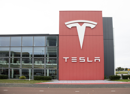 Amsterdam, Netherlands -october 1, 2017: Building of the Tesla dealer in Amsterdam Stock Photo - 86777305