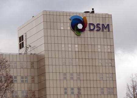 Amsterdam, Nederland - 26 december 2017: DSM-hoofdkantoor in Nederland