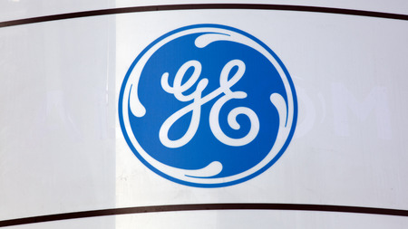 Amsterdam, Netherlands -january 14, 2018: General electric sign on a wall in Amsterdam Editorial