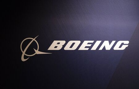 Amsterdam, Netherlands 28 november 2018; Boeing letters on a wall in exhibiton stand in amsterdam Editorial