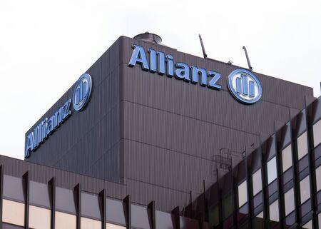 Rotterdam, Países Bajos, 3 de abril de 2018; Sede de seguros de Allianz en Rotterdam en los Países Bajos