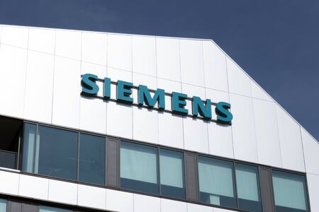 Rotterdam, Netherlands 4 april 2019; Facade of the Siemens building in Rotterdam in the Netherlands Editorial