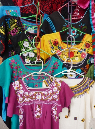 blouses: Typical blouses for sale in Mexico