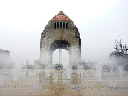 revolutionary: Fountains at the Revolution Monument in Mexico City
