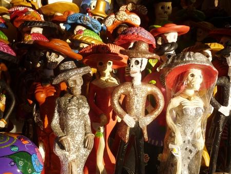 Catrinas and other ceramic skeletons from Mexico Reklamní fotografie