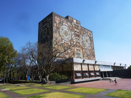 The library of the National Autonomous University of Mexico UNAM 스톡 콘텐츠