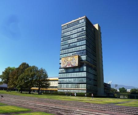 autonomous: An administrative building at the National Autonomous University of Mexico UNAM Editorial