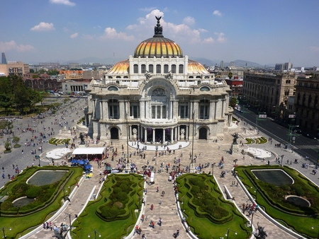 The Bellas Artes Museum and Opera House in Mexico City