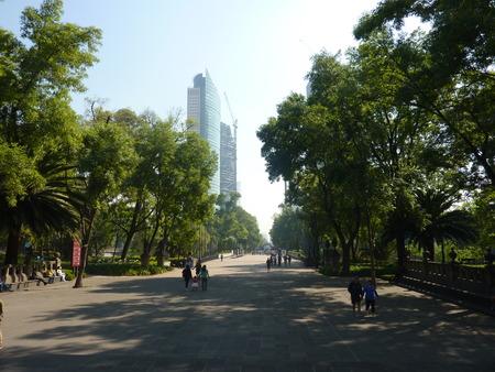メキシコシティのチャプルテペック公園の広い車線