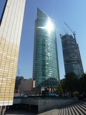 high rise buildings: High rise buildings on Reforma Avenue in Mexico City