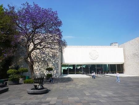 メキシコシティのチャプルテペック公園の人類学博物館で静かな朝 報道画像