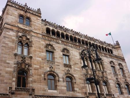 建築、建物、美しい、郵便、宮殿、メール、観光, 観光, 魅力, メキシコ、フラグ、ダウンタウン、メキシコシティ、メキシコ、中南米 報道画像