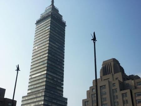 latin american: Torre Latinoamericano or the Latin American tower in Mexico City Stock Photo