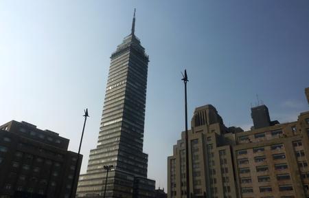 トレ Latinoamericano またはメキシコシティのラテン アメリカ タワー 写真素材