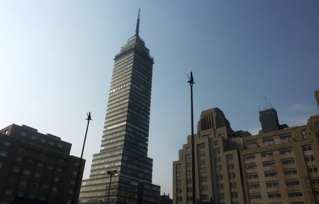 mexico city: Torre Latinoamericano or the Latin American tower in Mexico City Stock Photo