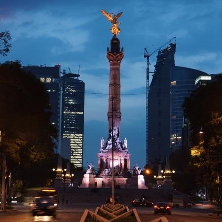 メキシコシティの独立記念碑の天使 報道画像
