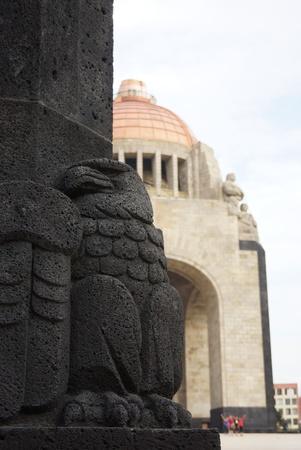 メキシコシティの革命記念碑 写真素材