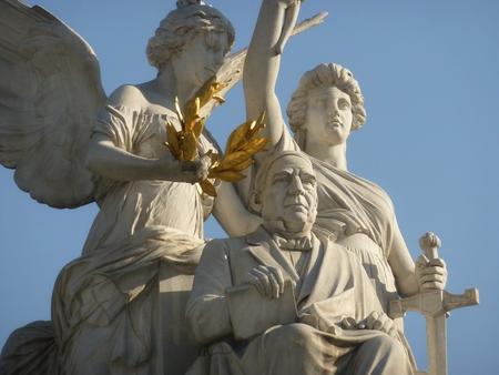 メキシコシティ, メキシコ、2016 年 2 月 21 日: ベニート ・ フアレス記念碑
