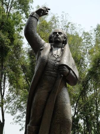 イダルゴ、メキシコ独立戦争の指導者像 報道画像