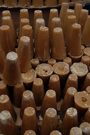 Piloncillo is unrefined sugar in Latin America 写真素材