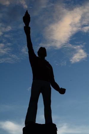 struggle: sculpture symbol of struggle 4