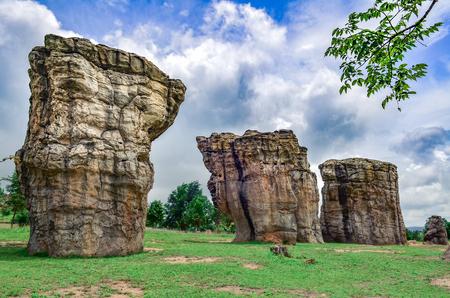 atmospheric phenomena: Stonehenge of Thailand (Mor Hin khao), The ancient strange stone is landmark at Chaiyaphum province Thailand