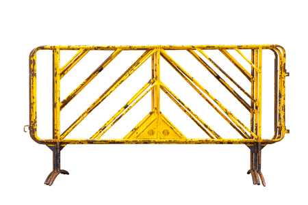 the old of Road barriers, object flat isolated on white background, include with path file.
