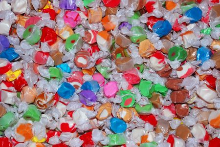 taffy: Close up of Salt Water Taffy Candy