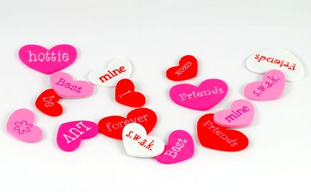 Valentines Day message hearts Stock Photo