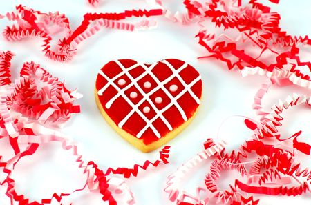 Heart cookie for Valentines Day Stock Photo