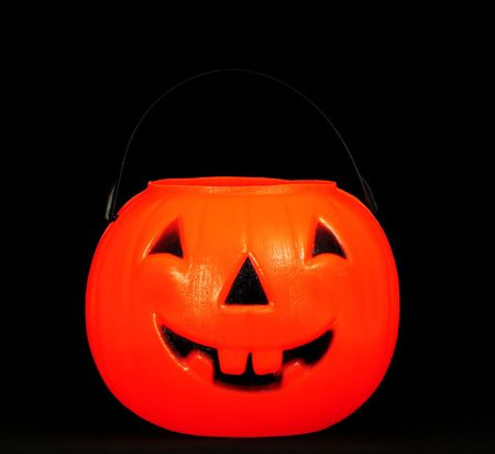 Halloween trick or treat plastic pumpkin