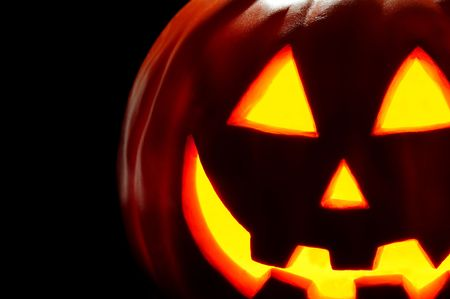 Spooky Halloween Jack O Lantern Stock Photo