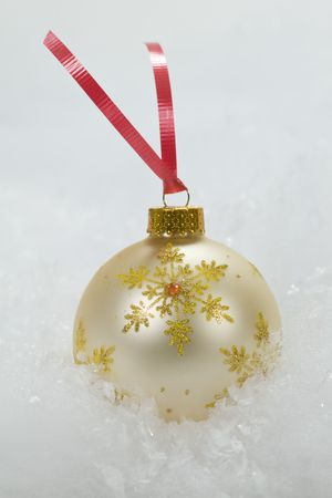 Gold & White Christmas Ornament