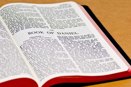 doctrine: Close up of Daniel bible page