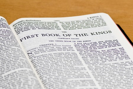 Close up of Kings bible page