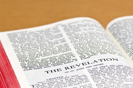 revelation: Close up of Revelation bible page