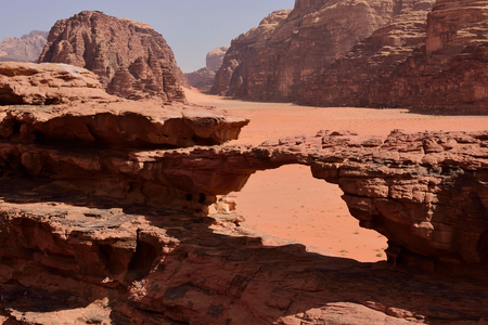 stone arch in Wadi Rum
