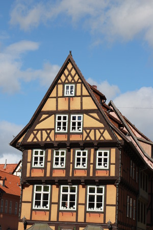 timbered: A timbered house