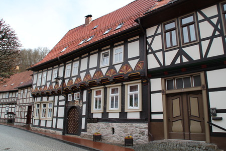 Timbered houses in Germany