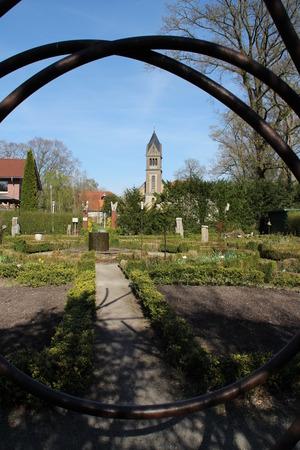 vicar: A park with a church